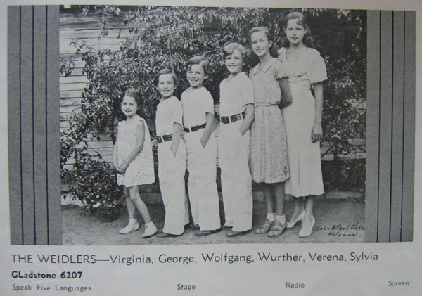 Weidler siblings 1935
